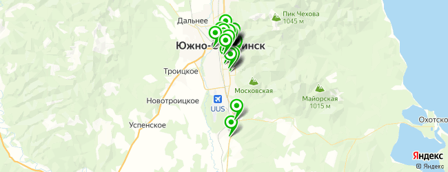 ресторан на карте Южно-Сахалинска