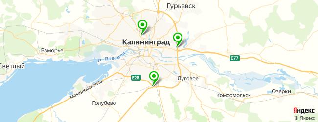 официальный автосервис на карте Калининграда