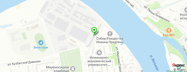 Кафетерий на ул. Максима Горького 1 — схема проезда на карте