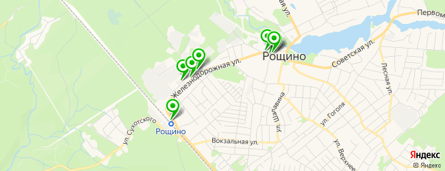 магазин запчастей на карте Рощино