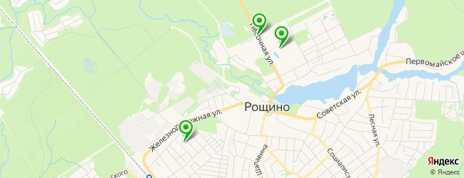 баня на карте Рощино