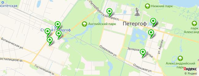 обувная мастерская на карте Петергофа