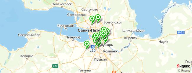 мастерские по ремонту холодильников на карте Санкт-Петербурга