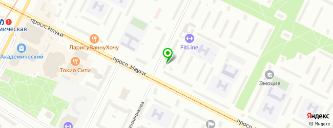 Сервисный центр IReach Service на метро Академическая — схема проезда на карте