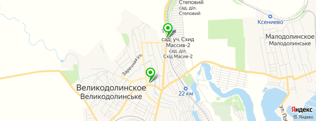 мастерская на карте Великодолинське