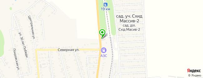 спорт-бар на карте Великодолинське