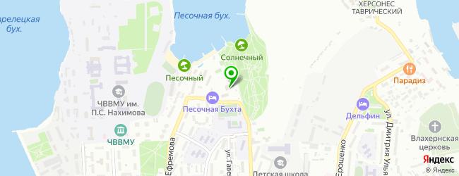 парки отдыха на карте Севастополя