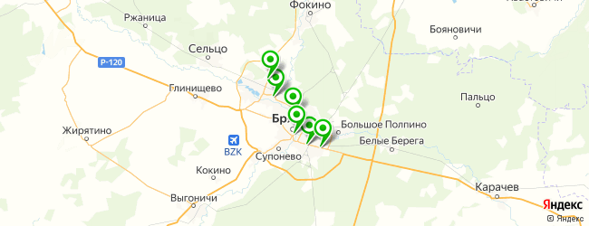 пивной бар на карте Брянска