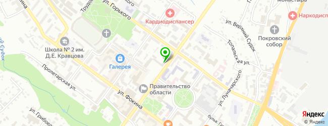 Кафе Бульвар — схема проезда на карте