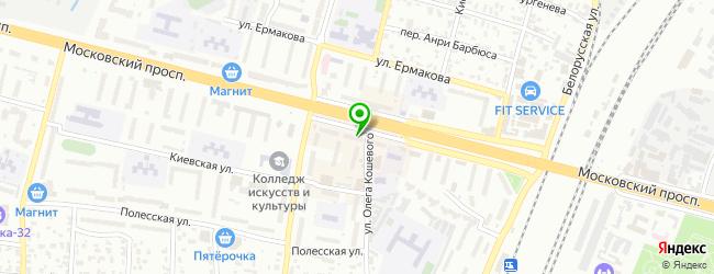 Кафе Чикен-пицца — схема проезда на карте