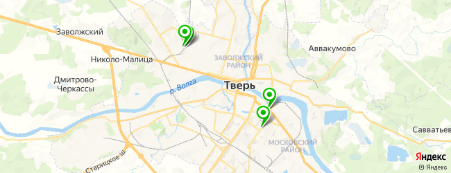 ателье штор на карте Твери
