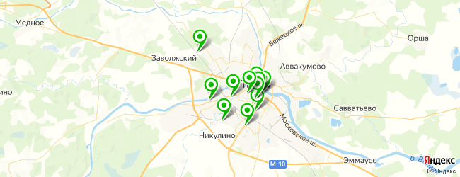 бильярдные клубы на карте Твери