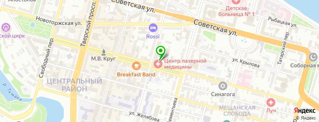 Тверской центр лазерной медицины — схема проезда на карте