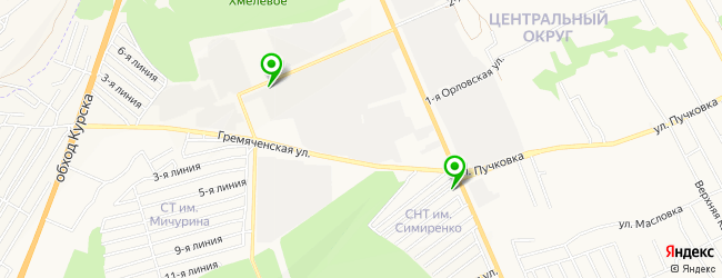 мойка мотоциклов на карте Курска
