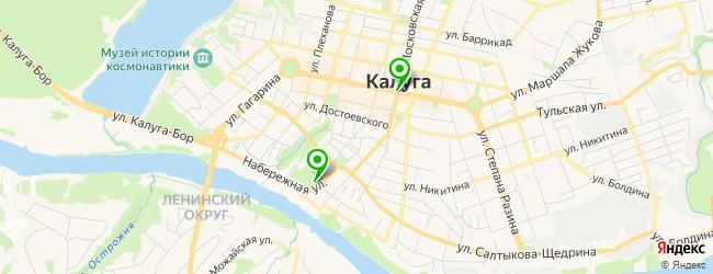 парки отдыха на карте Калуги