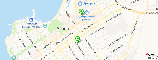 автовыкуп на карте Анапы