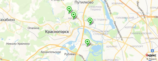 автошкола на карте Красногорска