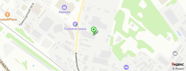 Кафе-бар на Коммунальном проезде 14 — схема проезда на карте