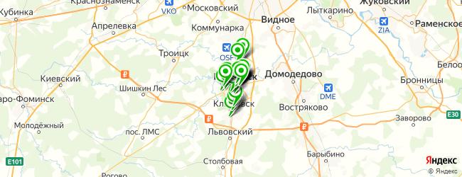 компьютерная помощь на карте Подольска