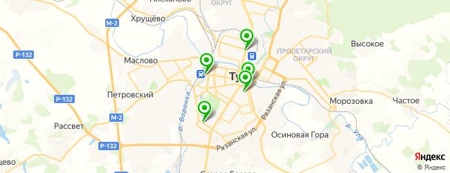 кафетерий на карте Тулы