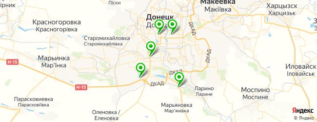 стрелковый клуб на карте Донецька