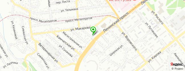 хореографическое училище на карте Донецька
