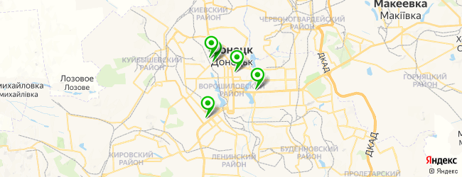 центр планирования семьи на карте Донецька