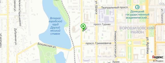 прачечная самообслуживания на карте Донецька