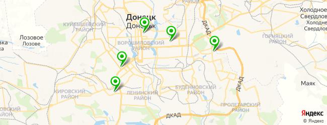 клиника пластической хирургии на карте Донецька