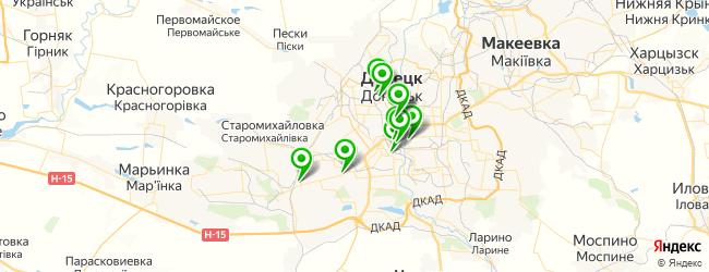 техникумы на карте Донецька