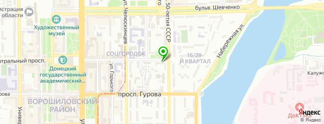 клиника гомеопатии на карте Донецька
