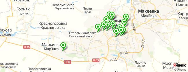 автоателье на карте Донецька