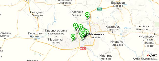 агентство детских праздников на карте Донецька