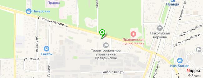 мастерская по ремонту компьютеров на карте Правдинского