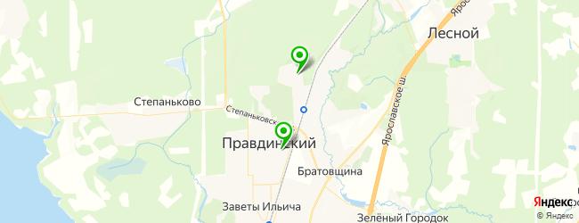 НИИ на карте Правдинского