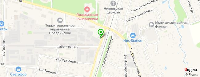 автосервис на карте Правдинского