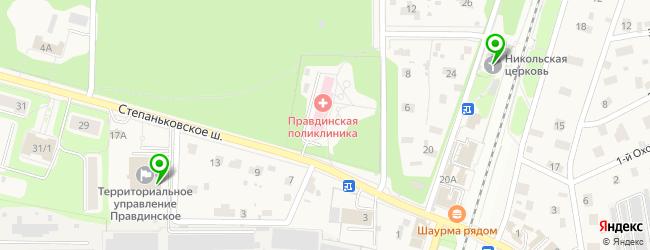 спортивные секции на карте Правдинского