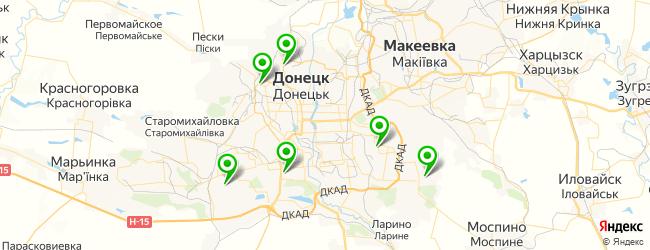 детские библиотеки на карте Донецька