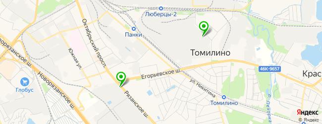 центр установки автостекол на карте Томилино