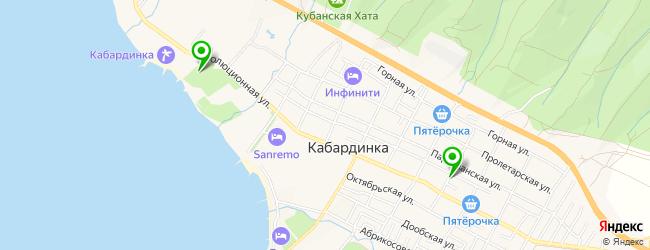 детские сады на карте Кабардинки