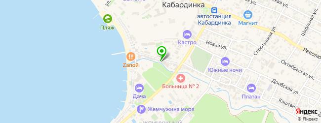 ночные клубы на карте Кабардинки
