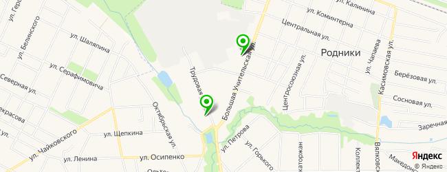 массажный салон на карте Родников