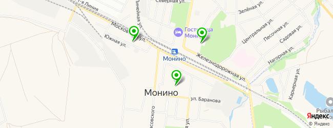 школы на карте Монино
