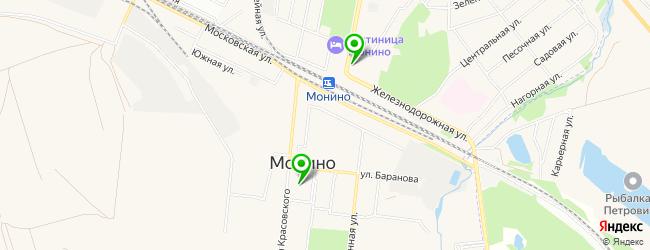отделения Почты России на карте Монино