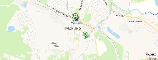 студия загара на карте Монино