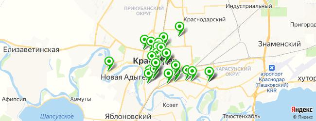 банк на карте Краснодара