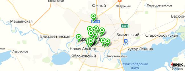 ресторан на карте Краснодара