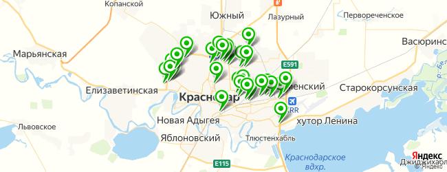 парковка на карте Краснодара