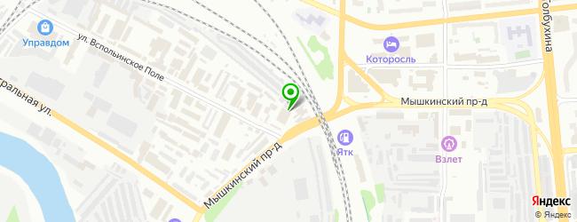 Похоронное бюро Ангел — схема проезда на карте