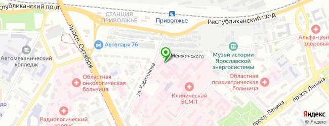 Ярославский Городской Ритуальный Центр — схема проезда на карте